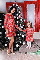 Элегантное молодежное платье в комплекте с детским
