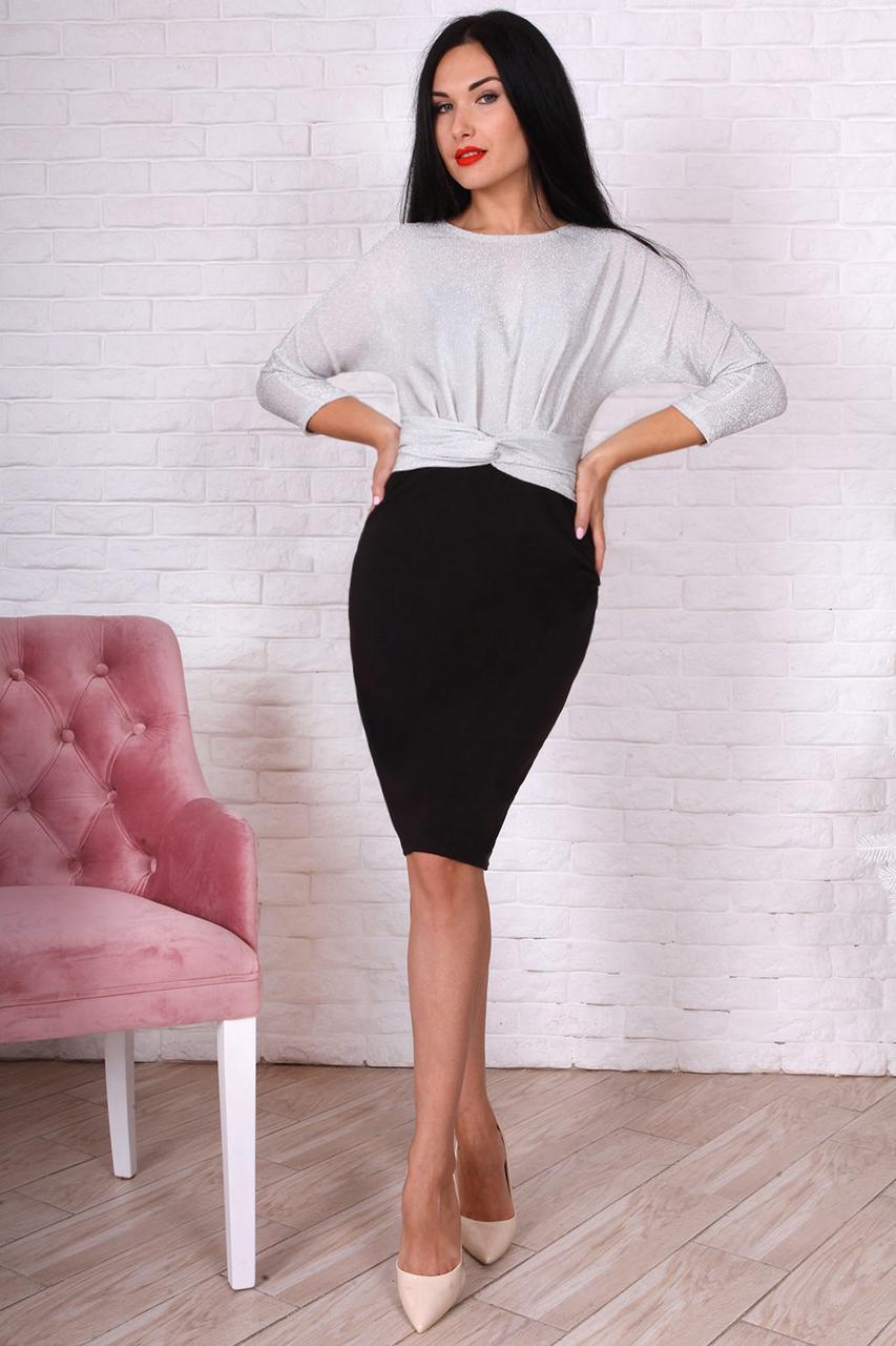 Супер модное платье с люрексом