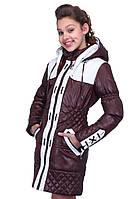 Комбинированная детская куртка для девочки, фото 1