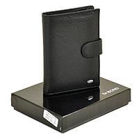 Мужской кожаный кошелек Dr. Bond Classic черный. Портмоне мужское., фото 1