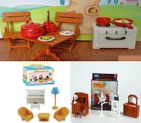 Набор мебели для домиков Sylvanian Families Happy family 3 в 1