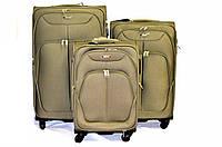 Набор из 3 чемоданов Paulaner 3802 зелёный, фото 1