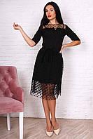 Молодежное нарядное платье из креп дайвинга