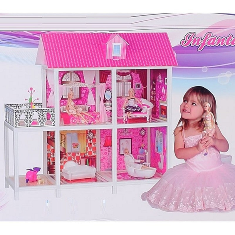 Домик для кукол RoyalToys 66884 2 этажа