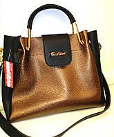 """Женская сумка, качественная """"FASHION"""", коричневая, 0515"""