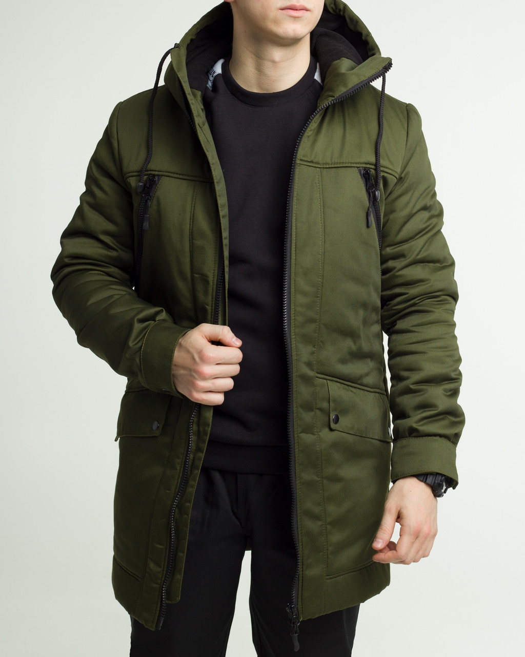 3a06e12e6cc8 Зимняя мужская куртка ТУР Grizli хаки