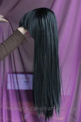 Парик черный длинный волосы, фото 2