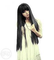 Парик черный длинный волосы