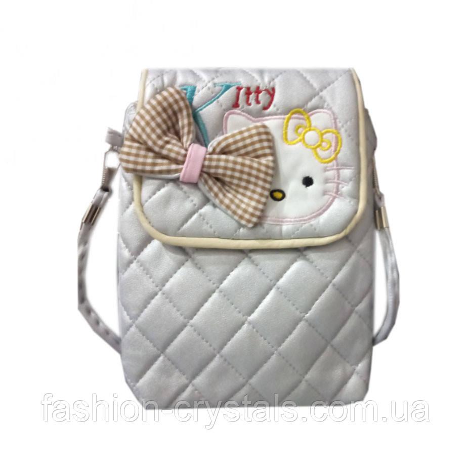 Детская сумочка kitty с бантом