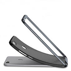 Чехол накладка iPaky для Xiaomi Redmi Note 5A / Y1 Lite TPU + PC Черный / Серый, фото 3