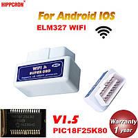 Super obd2 Беспроводной диагностический сканер для авто  ELM 327 WIFI OBD2 / OBDII ELM327 V1.5