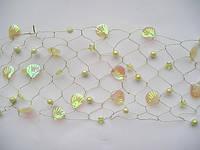 Золотая сетка с ракушками и жемчугом