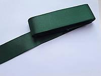 Тесьма лента репсовая широкая Стрічка репсова 4 см 40 мм,  № 77,темно-зелена. Туреччина, 1 метр
