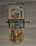Деревянная игрушка Лабиринт на проволоке, 12 см,в коробке арт 0060 ., фото 3