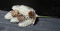 Ветка хвои белой с шишками  24 см, фото 1