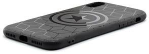 "Чехол накладка YCT для iPhone X (5.8 "") TPU Капитан Америка Черный, фото 2"