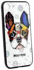 "Чехол накладка YCT для iPhone 7/8 (4.7 "") TPU + Glass Стильная собака (HELLO DOG!), фото 3"