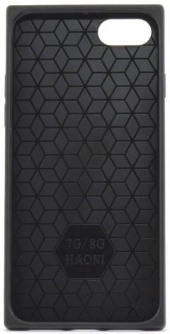 """Чехол накладка YCT для iPhone 7/8 (4.7 """") TPU + Glass прямоугольный Сердца Синий, фото 2"""