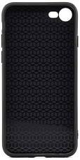 """Чехол накладка YCT для iPhone 7/8 (4.7 """") TPU + PC с тиснением Сиреневый павлин, фото 3"""