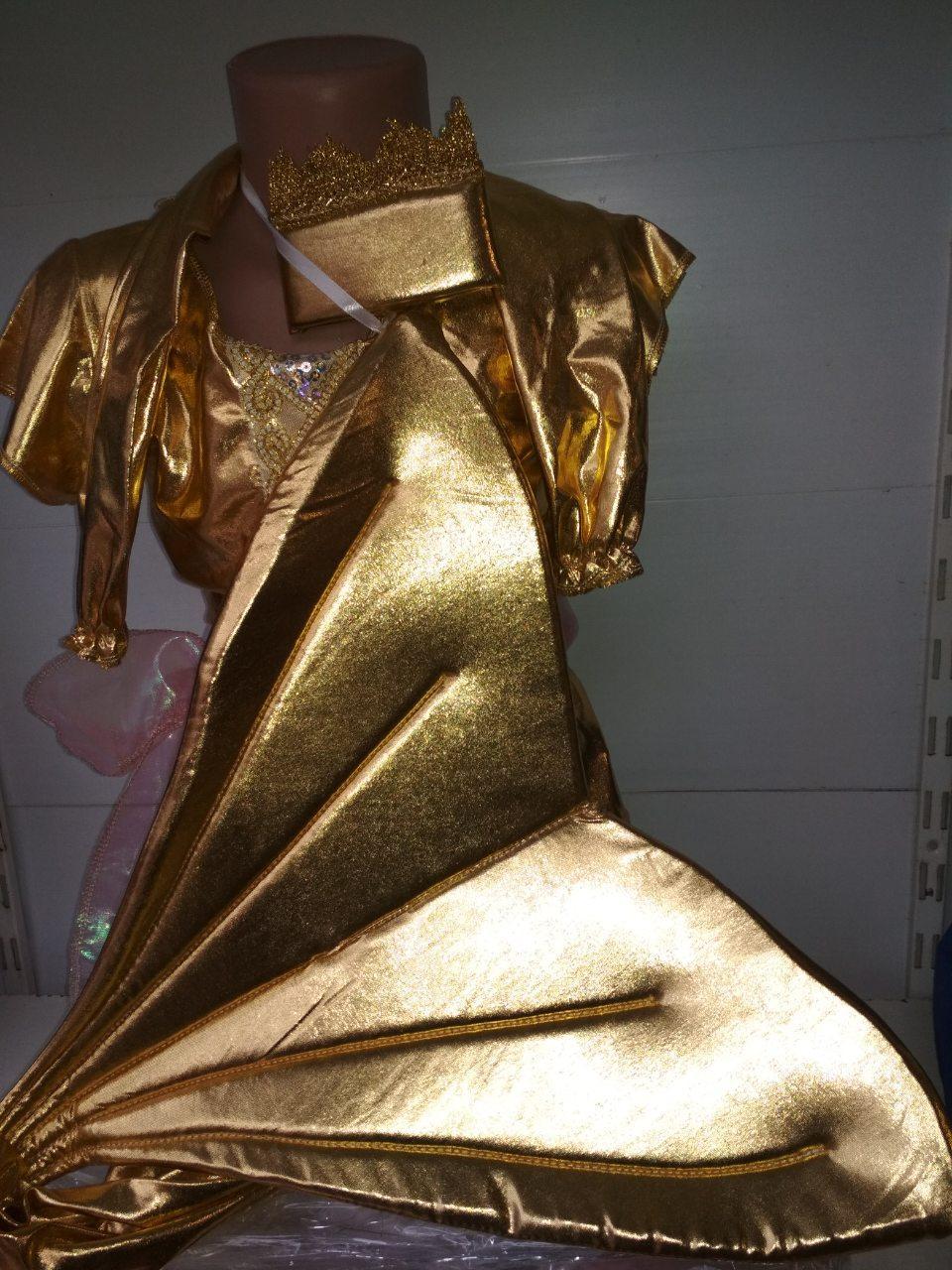 Маскарадный костюм золотый русалки на утренник новогодний карнавальный костюм