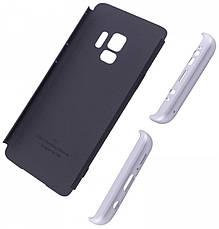 Чехол 360 ° LikGus для Samsung Galaxy S9 360 ° Черный / Серебристый (440089), фото 2