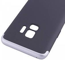 Чехол 360 ° LikGus для Samsung Galaxy S9 360 ° Черный / Серебристый (440089), фото 3