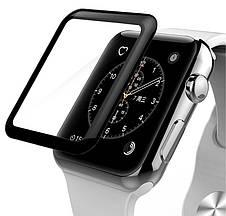 Захисне Скло Tempered Glass для Apple iWatch 42мм Прозорий/Чорний, фото 2