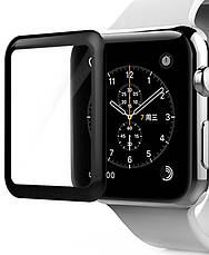 Защитное стекло Tempered Glass для Apple iWatch 42мм Прозрачный / Черный, фото 3
