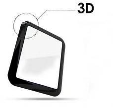 Захисне Скло Tempered Glass для Apple iWatch 42мм Прозорий/Чорний, фото 3