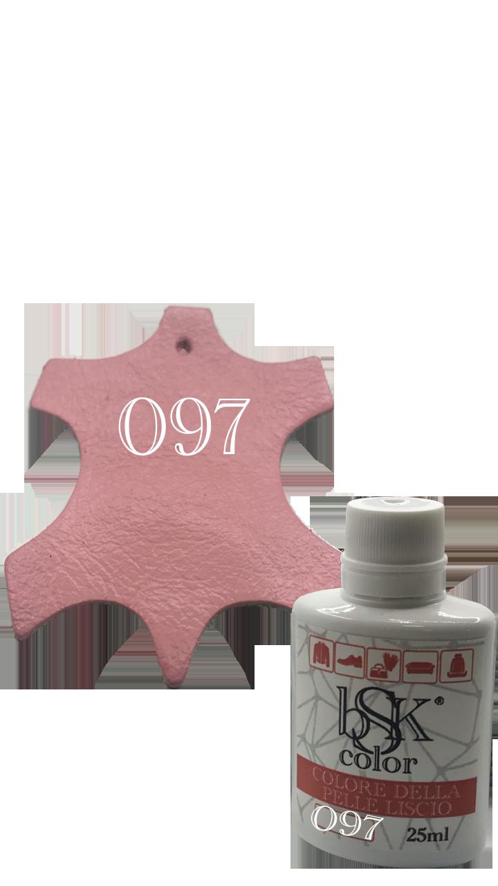 Краска для гладкой кожи розовый  25ml  №097