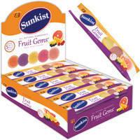 Sunkist Fruit Gems Jelly belly, 5 штук , 46 г