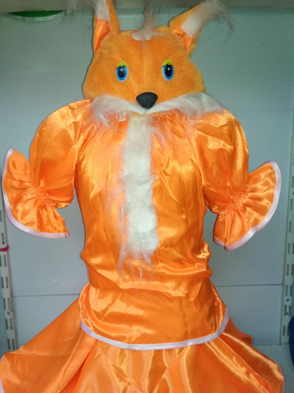 На праздник в школу, садик костюм для девочки милой лисички карнавальный костюм