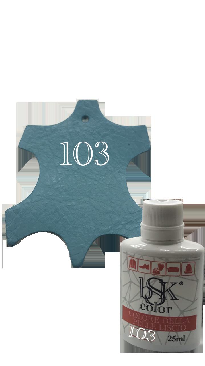 Краска для гладкой кожи бирюзовый-топаз  25ml  №103