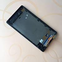 Дисплей (LCD) Sony C6502 Xperia ZL | C6503 | L35h | L35i | C6506 с тачскрином и рамкой, чёрный