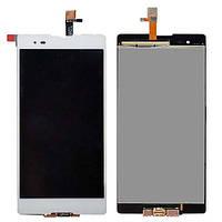 Дисплей (LCD) Sony D5303 Xperia T2 Ultra | D5306 | D5322 с тачскрином, белый