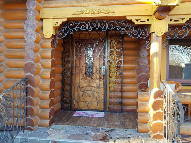 Кованые решетчатые двери -1