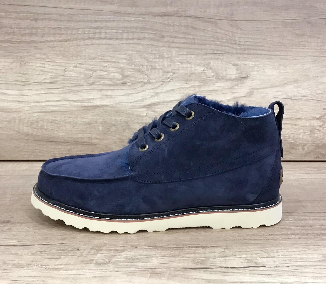Угги ботинки мужские Бекхэм синие замш UGG Australia Beckham Navy