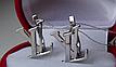 Серебряные серьги - подвески Louis Vuitton, фото 2