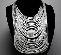 Ожерелье из бисера белое