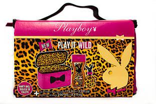 Набір подарунковий жіночий Playboy Play it Wild (туалетна вода 75мл.+гель для душу+косметичка)