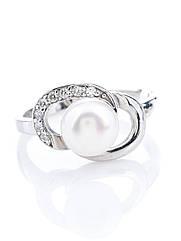 Кільце срібне з перлами R-592 (р. 17.0)