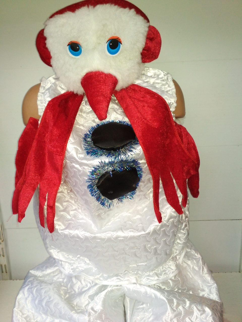 Детский карнавальный костюм СНЕГОВИК на рост 108-134 для мальчика на утренник новогодний