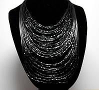 Ожерелье из бисера черное