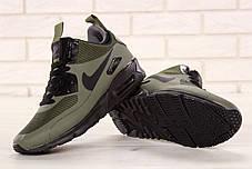 Кроссовки мужские Nike Air 90 Mid Winter серого цвета топ реплика, фото 3