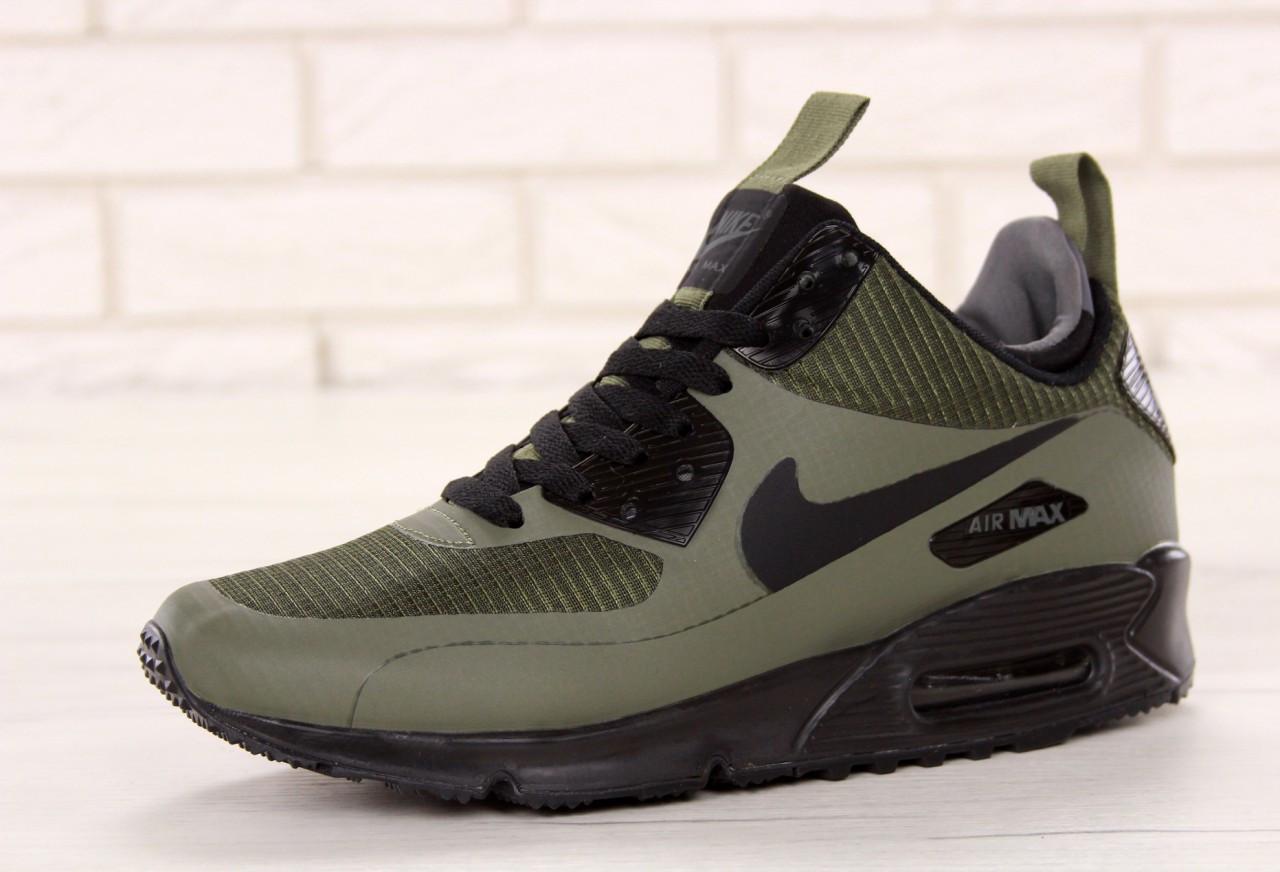 Кроссовки мужские Nike Air 90 Mid Winter серого цвета топ реплика