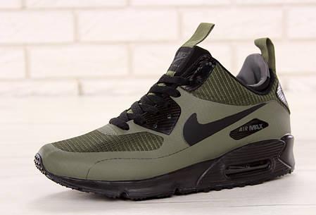 Кроссовки мужские Nike Air 90 Mid Winter серого цвета топ реплика, фото 2