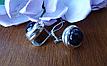 Серебряные серьги c авантюрином, фото 2