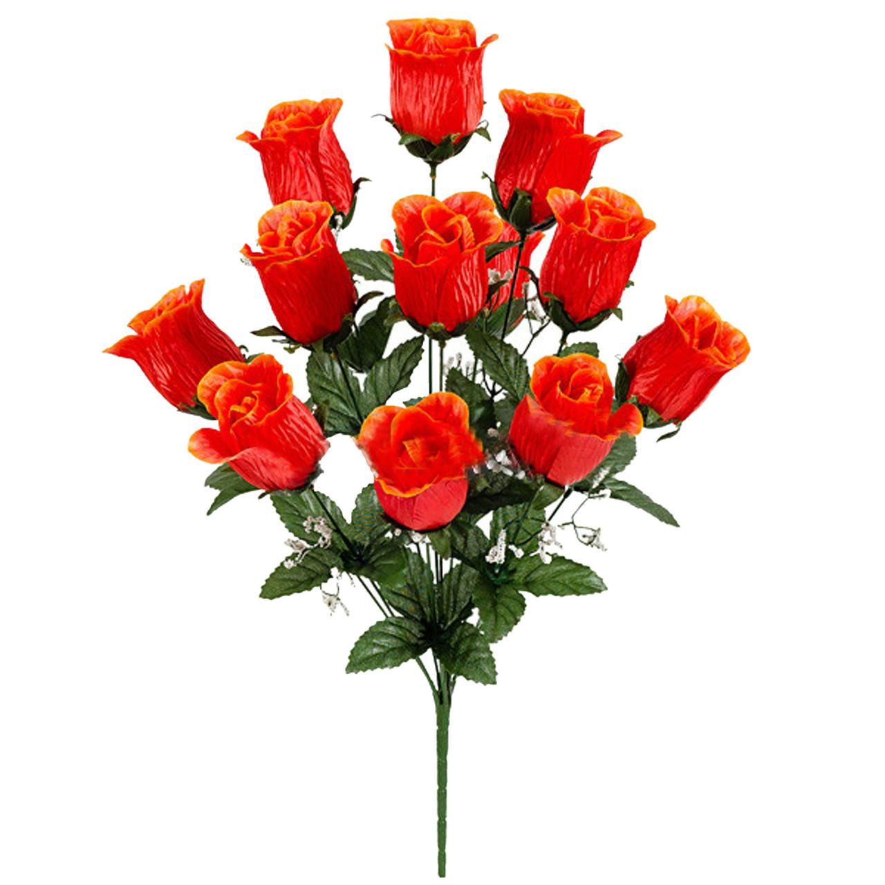 Букет искусственных бутонов роз Шахерезада, 51см