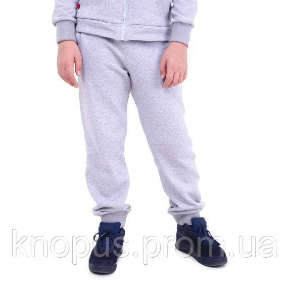 Спортивные штани  утепленные , светло-серые, размер 152, Тимбо