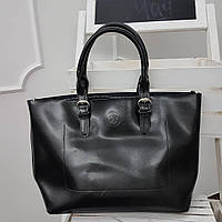 Сумка кожаная черную женскую  Майкл корс реплика , большая кожаная сумка шоппер , шопер, фото 1